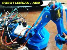 #3 Robot ARM ( Robot Lengan ) Menggunakan ARDUINO