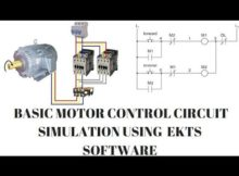 Basic Motor Control Circuit Simulation Using (EKTS) Software Details | By Ahuja Technical Hant