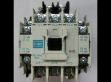 Cara kerja kontaktor bekerja secara  berurutan dengan menggunakan Kontaktor Mitsubishi Sn 21