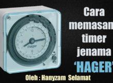 Cara Memasang Timer Jenama Hager