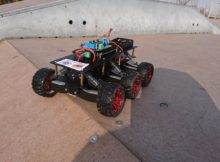 GodDog) 6WD robot field test+code. Arduino mega+bluetooth+Motor shield.