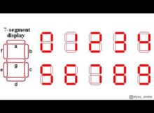 Membuat Karakter Angka pada 7 Segment Common Anoda | Karakter Angka 0 - 9 di 7 Segment Common Anoda