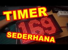 Membuat Timer Sederhana LED Matrix