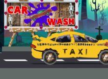 Menakutkan Taxi - Cuci Mobil | Menakutkan Pendidikan Video | Scary Taxi - Car Wash For Kids