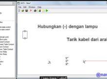 Menyalakan 2 Lampu dengan 3 Saklar menggunakan Software Simulasi EKTS