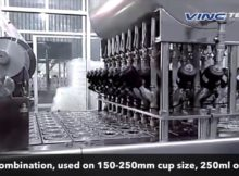 Mesin Pengisian dan Penyegelan Gelas 32 line (Cup Filling and Sealer Machine 32 Line)