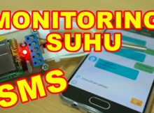 Rangkaian Monitoring Suhu Lewat SMS