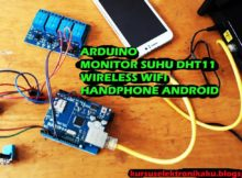 Arduino Monitor Suhu / temperature using Sensor DHT11 & wireless WIFI handphone Android
