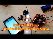 Control Arduino, Camera TTL, Ultrasonic, Using IOT and Telegram