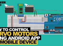 Control two servos with your smartphone using an Android app and an Arduino UNO