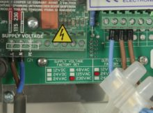 'Dustcheck's Delta P (Sequence) Controller VOLTAGE AND WIRING - Dust Extraction Unit'