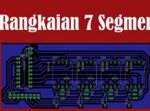 Eagle PCB - Rangkaian 7 Segmen