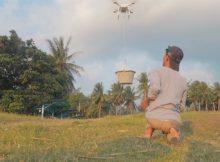 EXPERIMEN DRONE ANGKAT EMBER