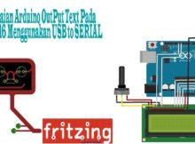 Fritzing - Rangkaian Arduino OutPut Text Pada LCD 2x16 Menggunakan USB to SERIAL