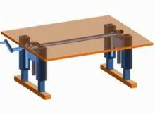 ide untuk pembuatan meja naik, turun, adjustable