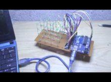 Membuat LED CUBE 4X4X4 Arduino Uno