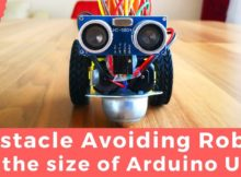 Obstacle Avoiding Robot Car in the size of Arduino Uno