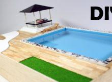 Pake Air Beneran! Kolam Renang Diorama / Miniatur | DIY