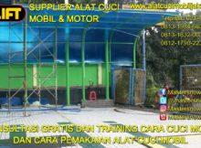 Pemasangan alat Hidrolik cuci mobil di Kedoya Jakarta Barat