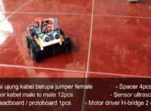 Robot Mobile Avoidance Arduino Ultrasonic Sensor Fullset (+Modul)