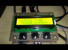 sensor listrik berbasis sms mikrokontroler atmega8