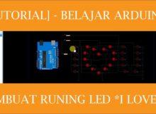 TUTORIAL belajar arduino dengan mudah - membuat running led I LOVE U