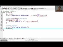 belajar algoritma : 4.01 struktur IF pada bahasa C, bahasa Indonesia