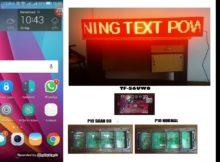 Cara Setting Running text tf-s6uw0 dari powerled dengan hp android (how to setting tf-s6uw0)