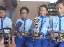 Harumkan Bangsa, 4 Siswa SD Ciptakan Robot Resque, Juara 1 Internasional di Singapura