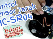 Kontrol Sensor Jarak HC SR04 - Tutorial Arduino Indonesia #19