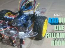 Make an Easy LINE FOLLOWING ROBOT. arduino+ 4sensor array.