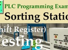 PLC Programming Example - Sorting Station Testing (Shift Register)
