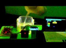 prototype pendeteksi ketinggian air sungai monitoring VB