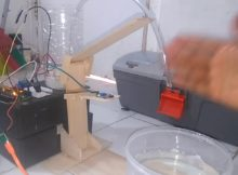 Prototype Wastafel Cuci Tangan Otomatis Menggunakan Arduino, Water Pump, dan Sensor Infra Merah