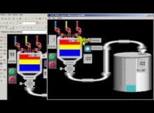 Tutorial Simulasi CX-Programmer dengan CX-Designer (HMI) PLC Omron - Mesin Pengisi Tangki