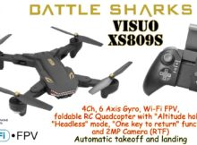 VISUO XS809S 2.4GHz, 4Ch, 6 Axis, Wi-Fi FPV, Alt. hold, Headless, One key to return, 2MP Camera