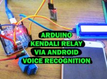 Arduino control relay using voice recognition android handphone bluetooth