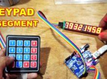 Rangkaian Keypad Seven Segment Arduino VLOG183
