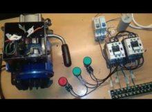 Rangkaian kontrol forward reverse motor 1 phase