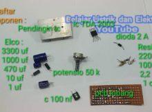 Merakit amplifier tda 2003 praktek solder untuk pemula