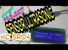 Pengukur jarak ultrasonic HC SR04 || project arduino